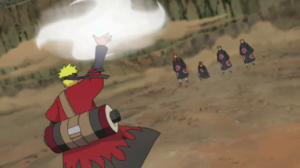 Naruto about to attack Pain