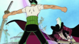 In what episode does Zoro fight Mihawk? [One Piece]