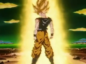 Goku first super sayian transfromation