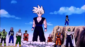 Gohan about to fight cell