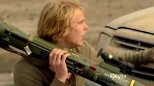 danny with rocket launcher