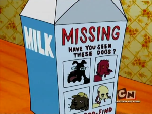 Missing Dogs on Milk Box