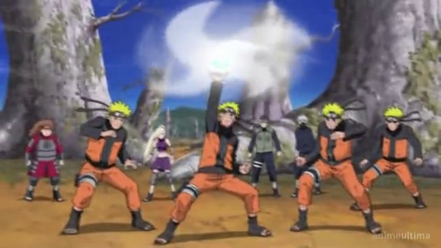 Naruto uses Rasenshuriken for the first time [Naruto Shippuden]