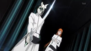 Ulquiorra draws sword