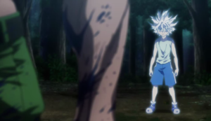 Killua arrives at the battle