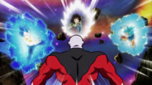 Trio charges at Jiren