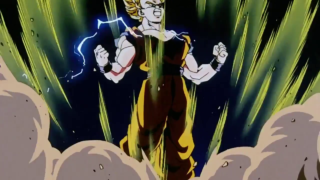 Goku Goes Super Saiyan 2 For Fhe First Time [DBZ]