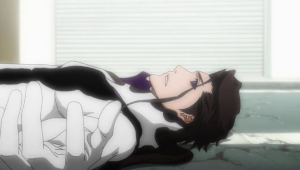 Aizen wounded by Gin