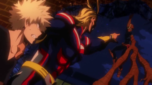 All Might and Bakugo
