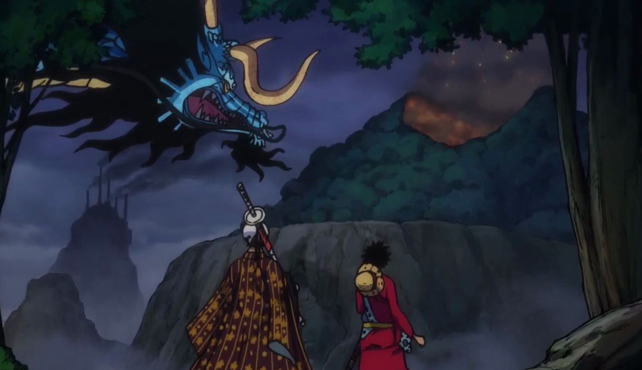 Kaido, Law and Luffy