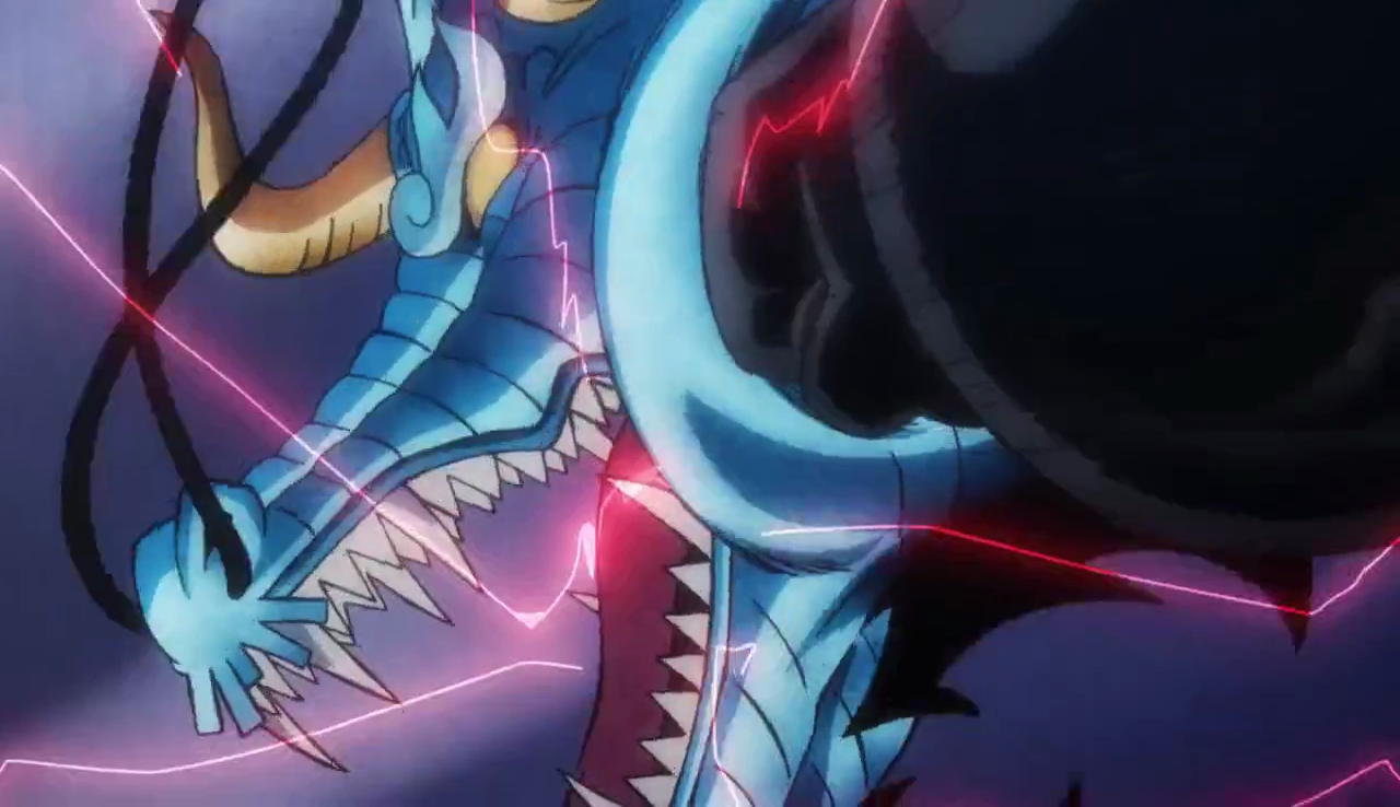 Luffy Punches Kaido