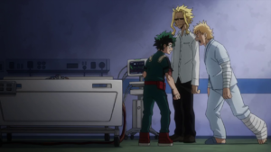 Midoriya, All Might and Miro