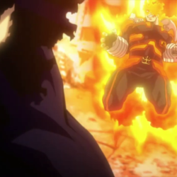 Endeavor vs High-End Nomu [My Hero Academia]