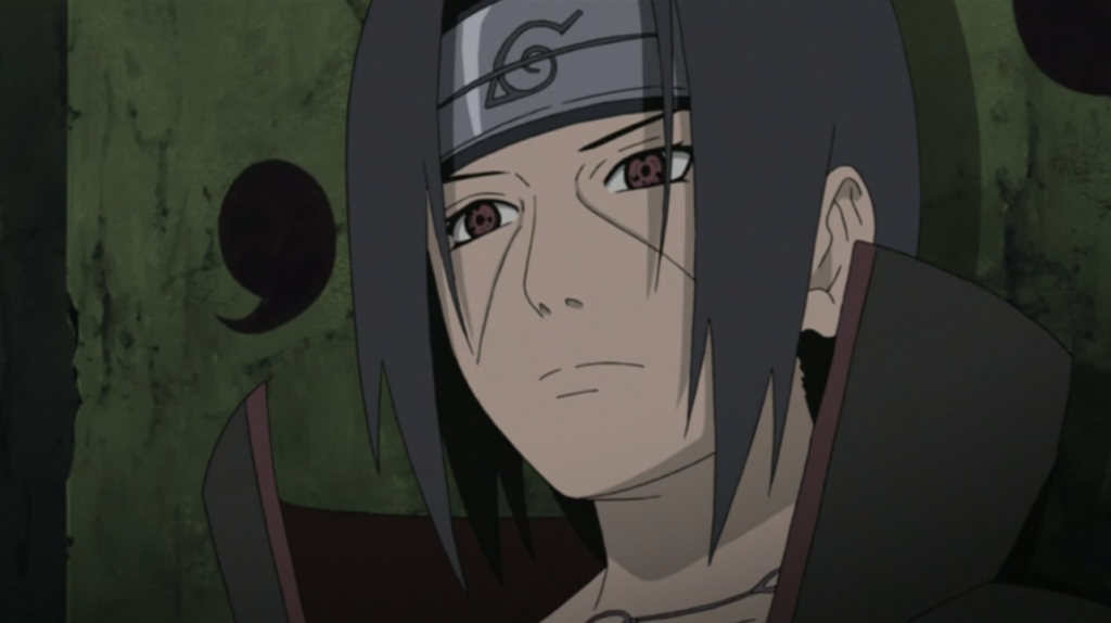 Itachi siting in Chair