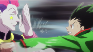 Hisoka fights Gon