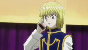 Kurapika gets call from friends